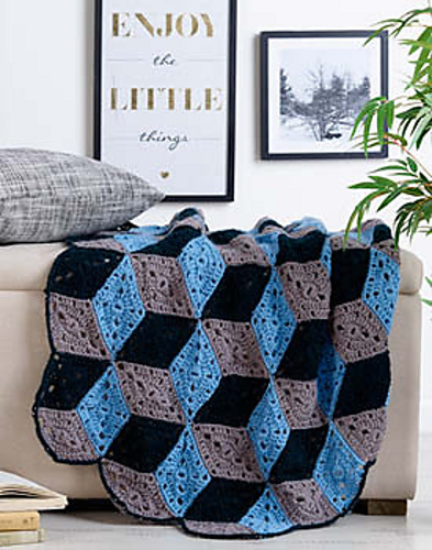 Crochet Patterns Galore 3d Diamond Throw