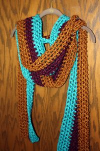 Extra Long Tri-Color Scarf