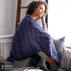 Wrapped in Waves Crochet Blanket Shawl