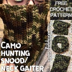 Camo Hunting Snood/Cowl/Neck Gaiter