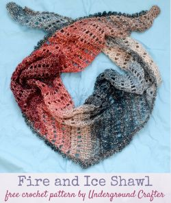 Fire and Ice Shawl