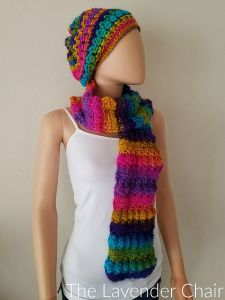 Crossed Bobble Scarf