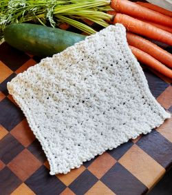 Textured Blocks Dishcloth