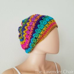 Crossed Bobble Slouchy Beanie