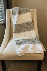 Block Stripe Baby Blanket