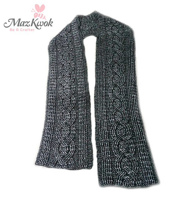 Crochet Patterns Galore - Eternal Cable Scarf