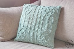 Cable Diamond Pillow