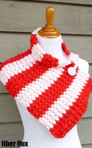 Peppermint Pop Button Cowl