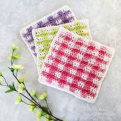 Spring Gingham Dishcloth