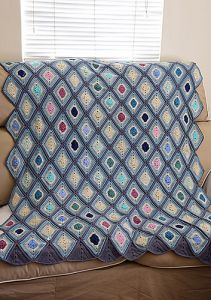 Sea breeze diamond throw