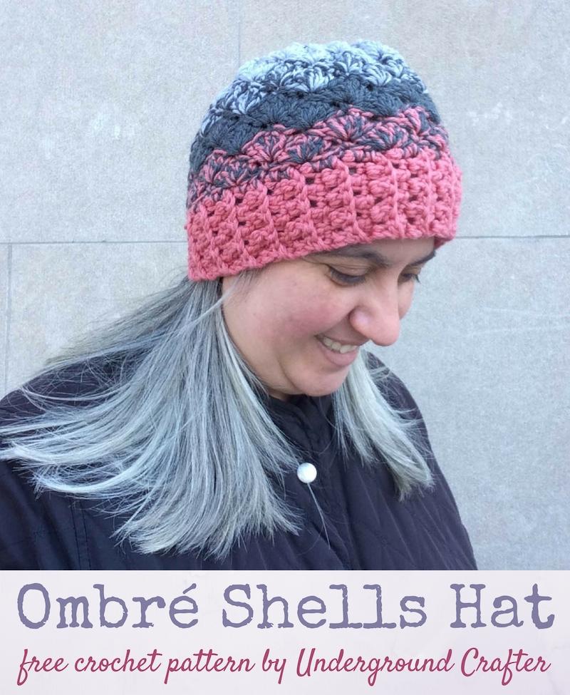 Crochet Patterns Galore Ombr Shells Hat