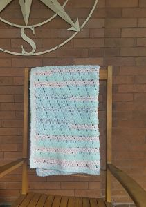 Fuzzy Diagonals Baby Blanket