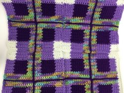 Purple Plaid Throw
