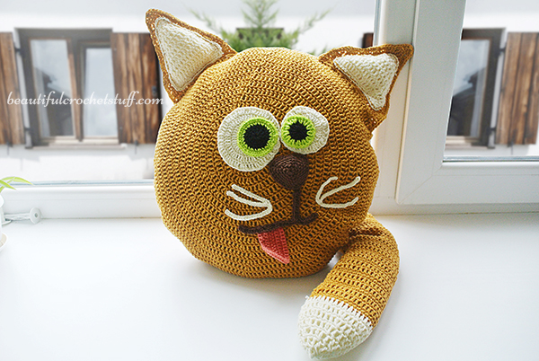 Crochet Patterns Galore Cat Pillow