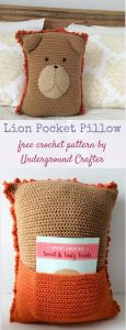 Lion Pocket Pillow
