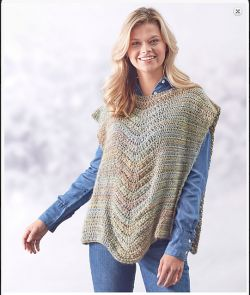 Lace Panel Poncho