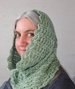 Textured Waves Hooded Cowl