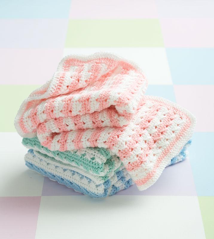 Crochet Pattern For Marshmallow Baby Blanket : Crochet Patterns Galore - Crochet Stripes Blanket
