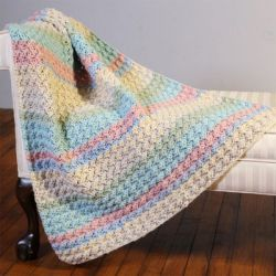 Hot Cakes Blanket Stitch Crochet Baby Blanket