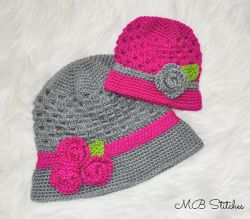 Mom and Baby Cloche Hat Set