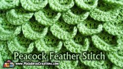Peacock Feather Crochet Stitch Tutorials
