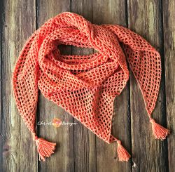 Easy Mesh Triangle Shawl
