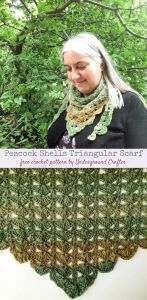 Peacock Shell Triangular Scarf