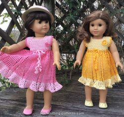 American Girl Doll Carnation Lace Dress