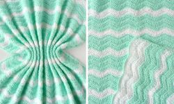 Summer Waves Ripple Blanket