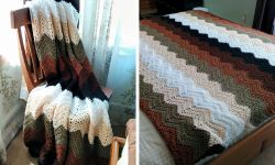 Mocha Ripple Throw