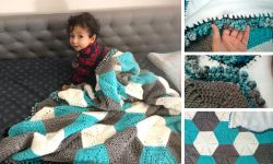 Hudson Blanket: Modern Hexagon Baby Blanket