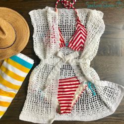 Crochet Shells & Squares Coverup