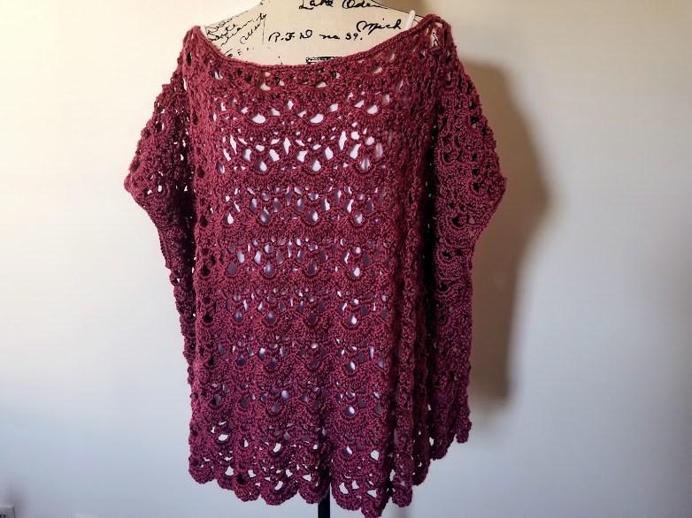Crochet Patterns Galore Rose Bud Poncho