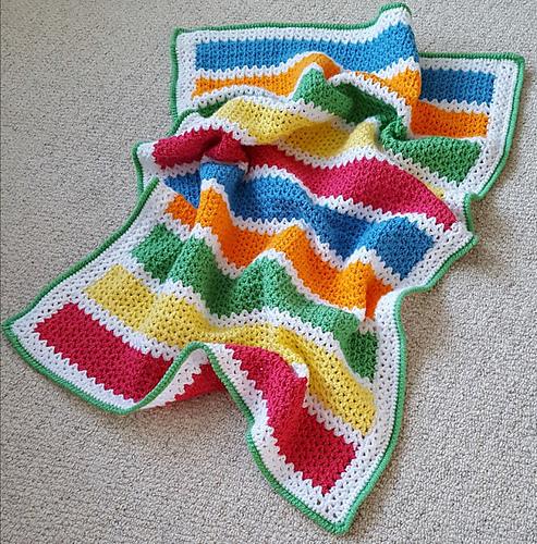 Crochet Patterns Galore V Stitch Baby Blanket