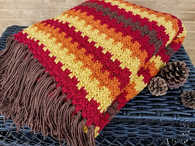 Crochet Patterns Galore Fall Foliage Afghan