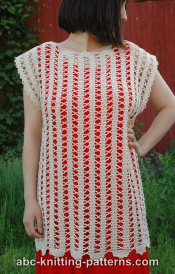 Free Crochet Patterns For Sleeveless Tops : Crochet Patterns Galore - Bruges Lace Sleeveless Summer Top