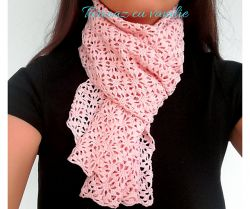 Pinky Lace Scarf