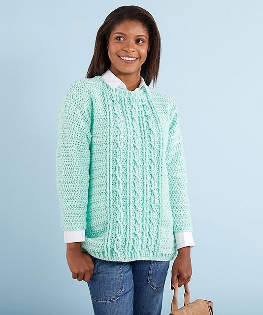 a6e713c31c7165 Crochet Patterns Galore - Gotta Have It Cable Sweater