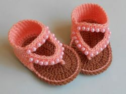 How to Crochet Baby Sandals Design