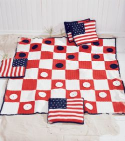 Checkerboard Picnic Blanket and Coasters