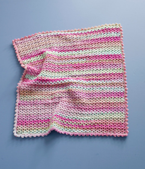 Crochet Patterns Galore Easy Stripes Baby Throw