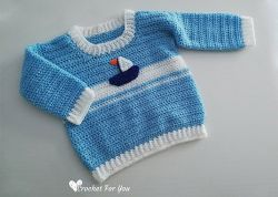 Set Sail Baby Sweater