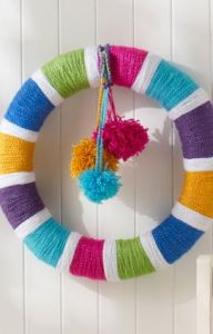 Rainbow of Colors Wreath