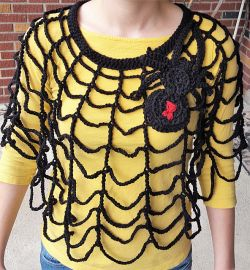 Spider and Web Poncho