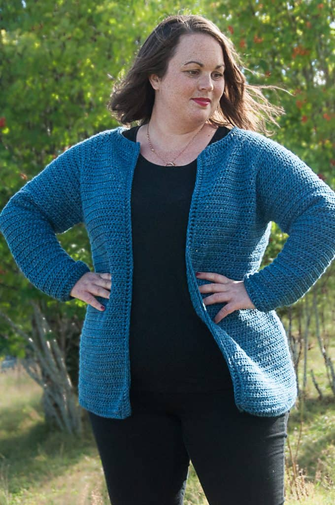 Crochet Patterns Galore Classic Raglan Cardigan