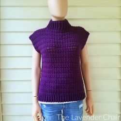 Crossed Double Cowl Neck Vest