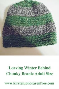 Leaving Winter Behind Chunky Beanie