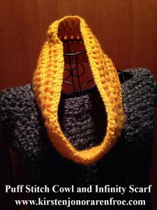 Puff Stitch Cowl and Infinity Scarf