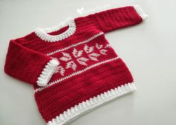 Winter Snowflake Baby Sweater