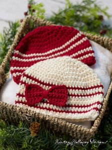 Cranberries and Cream Baby Hat